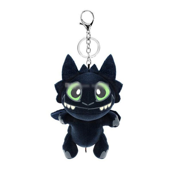 17cm (6.7inch) How to Train Your Dragon 3 Plush pendant Toy movie Toothless Stuffed Animals Doll Key chain Christmas Gift