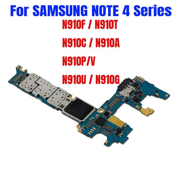 Pour carte mère Samsung Galaxy Note 4 N910F pour Note 4 N910C Carte mère N910U N910G N910T N910A N910P N910V