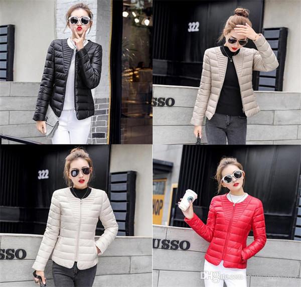 Veste de designer à capuche pour femmes à la mode chaude et courte, veste en coton rembourré et léger, sans col, vêtements pour femmes