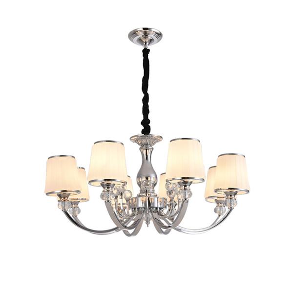 Estilo europeo, sala de estar, ambiente de araña de lujo, lámpara de araña de cristal, dormitorio en el hogar, lámpara, lámpara, suspensión
