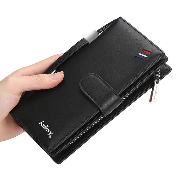 Новый мужской длинный кошелек Европа и Соединенные Штаты простой мобильный телефон сумка большой емкости бизнес клатч