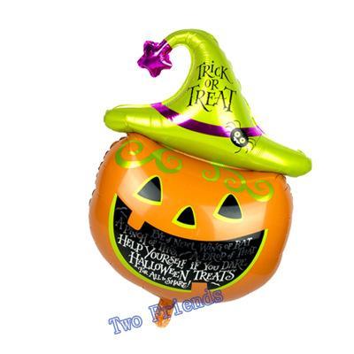 Cadılar Bayramı Çocuk Balon Alüminyum Folyo Örümcek Yüksek Kalite Ev Dekorasyon Karikatür Festivali Kabak Kafa Halloween Malzemeleri