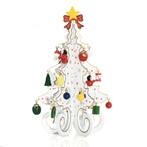 Christmas Decoration Creative Wooden Three-dimensional Christmas Tree Window Ornaments Hand Decoration Tree Gift