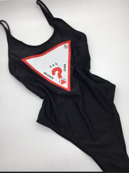 Luxe Sexy une pièce Bikini pour les femmes maillot de bain avec lettres d'été marque Maillots de bain Lady Backless Maillots de bain 3 couleurs S-XL en option