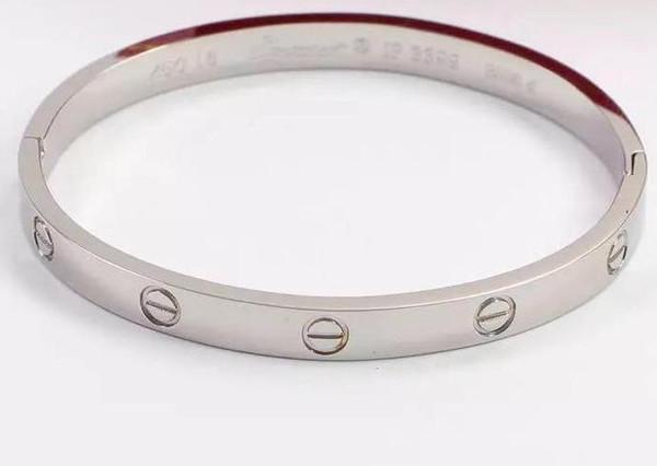 Мужчины и женщины любители браслет 18K розовое золото титан сталь Алмаз браслет вечное кольцо браслет никогда не исчезают