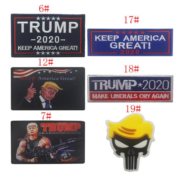 Brassard brodé Patch 2020 Garder l'Amérique Grande Brassard TRUMP Drapeau USA Drapeau tactique Moral Patchs Président