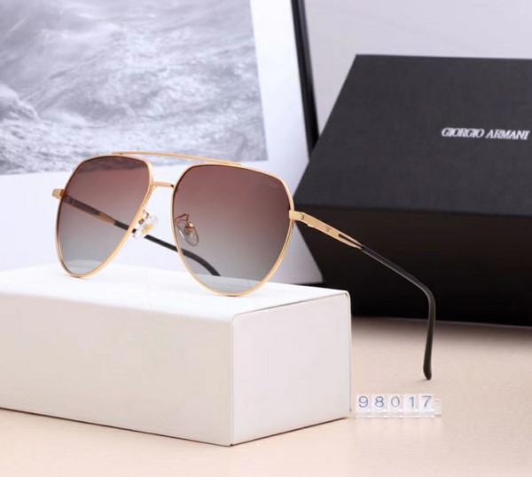 Créateur de lunettes de soleil populaires pour la marque de vêtements pour femmes de marque 98017, vêtements d'été combinant couleurs assorties de haute qualité, anti-ultraviolets