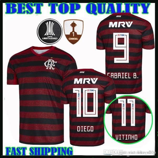 2019 Player Version Flamengo 2019 Home Soccer Jersey 2020 Gabriel B. De Arrascaeta DIEGO EDERSON 19 20 Vitinho Barbosa Football Shirts Size S XXL From  im Angebot