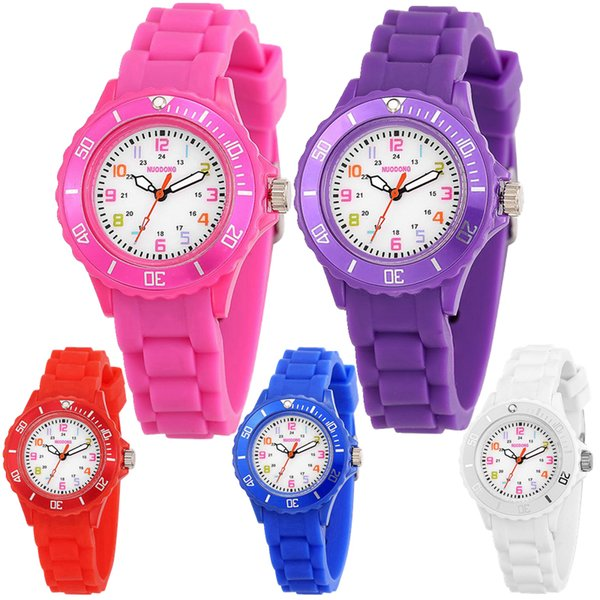 top popular fashion colorful kids boys girls children jelly candy silicone rubber watches Popular wholesale students gift quartz party watches 2020