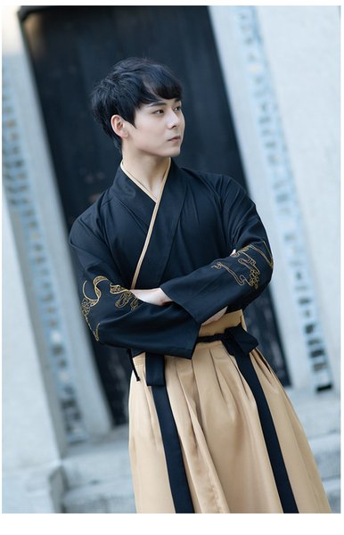 Ancient traditional Chinese opera Male Hanfu film TV stage wear national style Tang suit China Wind Campus clothing Men's Cosplay Costume