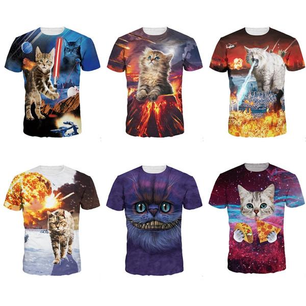 2019 The Kitten No One Loved T-shirt Killer Laser Kitten T Shirt 3D Funny Animal Cat Design Full Print Tee Tops Summer Style