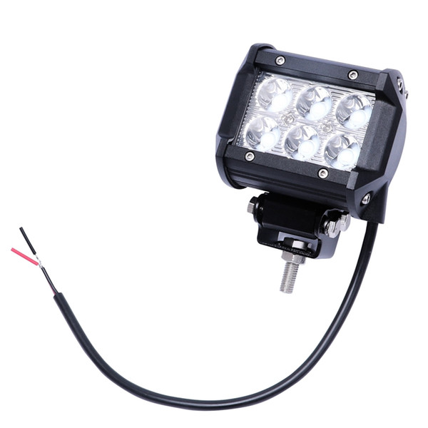 Lámpara del coche 1pcs llevó la barra ligera 18W luz del trabajo de la viruta llevada motocicleta Barco tractores todo terreno 4X4 4Wd carro SUV Niebla para ATV
