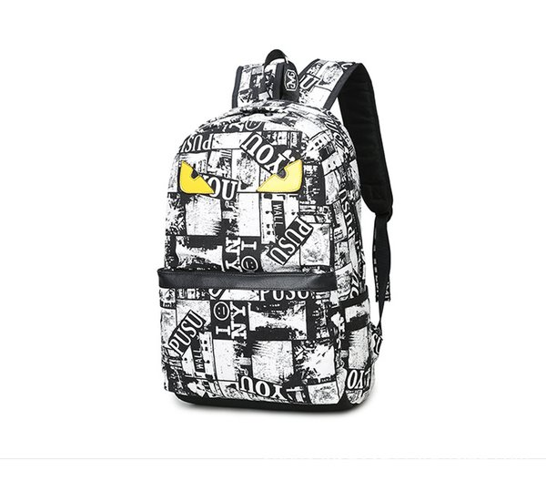 New Designer Brand Backpack Handbag High Quality Double Shoulder Backpack Outdoor Traveling Letter Printed School Bags Free Shipping
