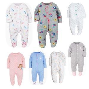Printed Newborn Toddler Autumn Romper Baby Soft Long Sleeve Cotton Jumpsuit Autumn Outfit Bodysuit Footies LLA183
