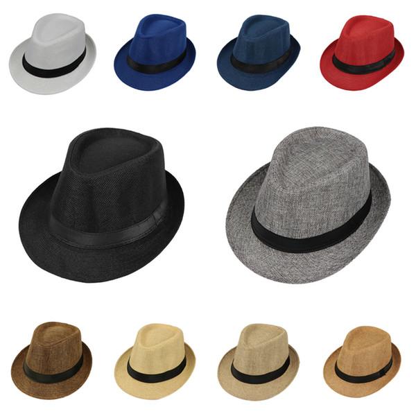 moda 11 tipi di cappelli a cilindro jazz puro crema solare per gli anziani cappelli da sole retrò classico britannico cappelli anziani T3I5246