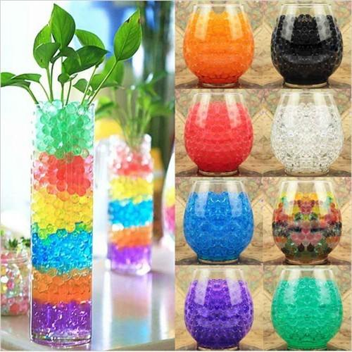 New cute Garden decoration Pearl shaped Crystal Mud 12 colors Water Beads wedding Home Decor IA75