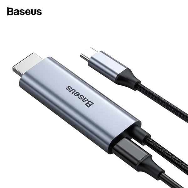 Baseus USB C Cavo HDMI tipo C a HDMI Thunderbolt 3 per MacBook Pro Samsung Note 10 USB-C a 4K con 60W Power Adapter PD