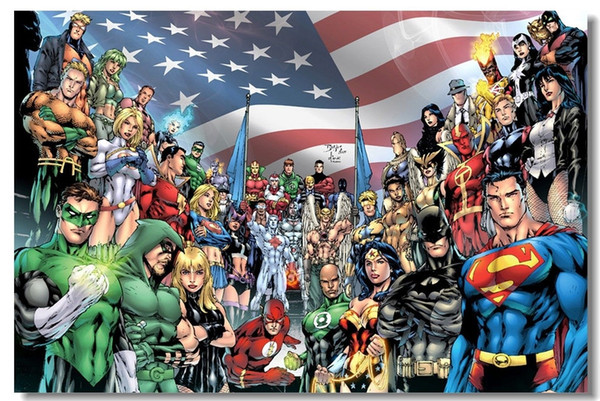 Justice League Hero Room Club Decor Art Silk Poster 24x36inch 24x43inch