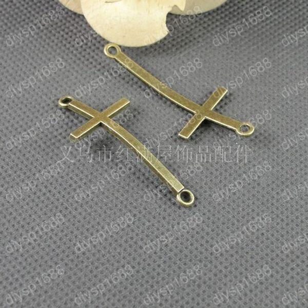 BULK Charms Cross Charms Antiqued Silver Wholesale Charms 50 pieces Connectors