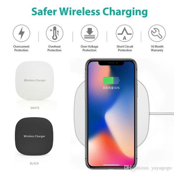 Perakende TS01 QI standerd akıllı telefon 2018 Yeni Ince Kablosuz Şarj Şarj Mikro USB w / Kablo Smartphone iPhone8 Için iPhoneX Telefon e389