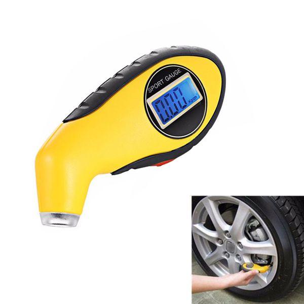 top popular Auto Car Gauge Tester Digital LCD Tire Tyre Pressure Gauge Meter Manometer Barometers Diagnostic Tool for Car Motorcycle 2021