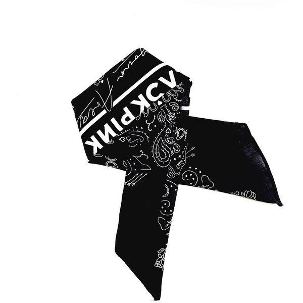 Yeni KPOP BLACKPINK LISA JENNIE JISOO GÜL Aynı Siyah Havlu Boyutu 55 * 55 cm Pamuk Eşarp Hip Hop kafa Saç Bandı El Havlusu