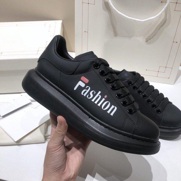 2021 Designer Mens Sneakers Winter Fashion Genuine Leather Canvas Platform Luxury Outdoor Men Casual