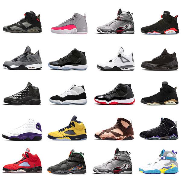 Concord Bred jordan retro 11 11s Мужчины женщины Баскетбольные кроссовки 8s Raid 13s Кепка и платье 4