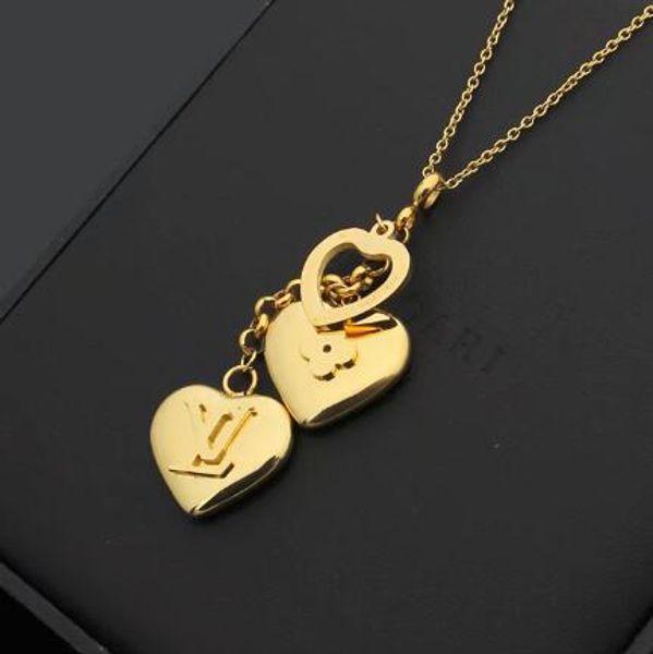 De igner brand necklace fa hion luxury letter love pendant necklace 18k titanium teel plated women necklace whole ale price, Silver