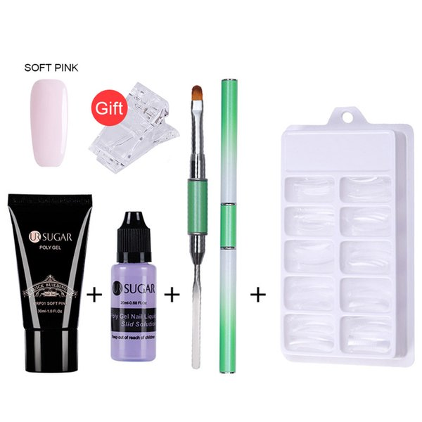 Hot Nails Kit 30ml Uv Gel French Nails Art Manicure Tips Build Extending Crystal Jelly Gum Poly Gel Set