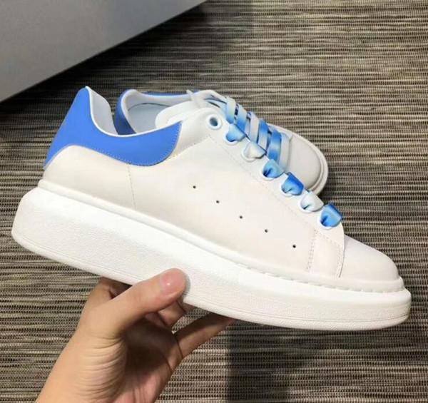 Sneaker oversize nuovo arrivo Scarpe da donna di design da donna di lusso Sneakers in pelle bianca Trainer di alta qualità Scarpe casual in pizzo sfumato 43