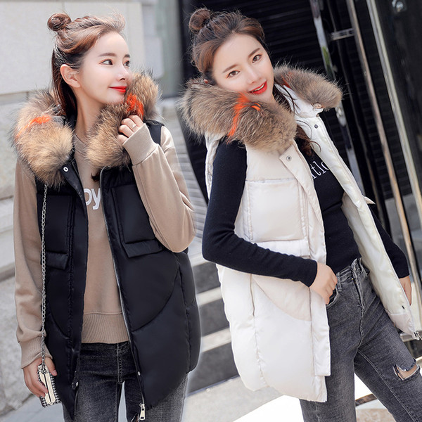 Coletes Chaleco Mujer Vest Female Long Feather Coat Color Of New Fund Of 2018 Autumn Winters Heavy Hair Thickening Tank Top