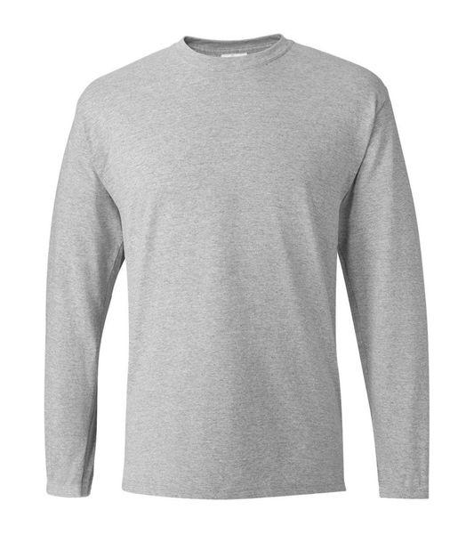 Katı Uzun Kollu T-Shirt Erkekler 2019 Sıcak Sonbahar Pamuk Rahat T Shirt Blant Siyah Beyaz Gri Kırmızı Lacivert erkek Marka Giyim