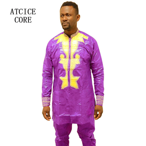 african dresses for man bazin riche embroidery design dress african man clothes LC901