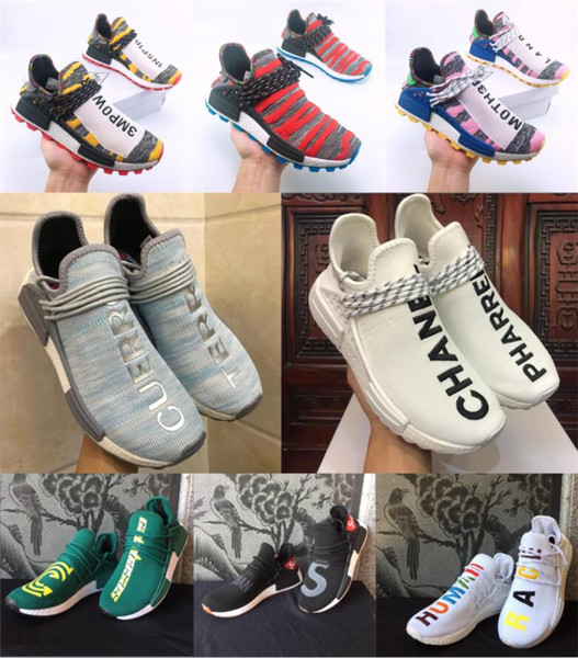Pharrell De Tr Human 2019 Race Compre Diseño Zapatos Hombres nYB8xwx