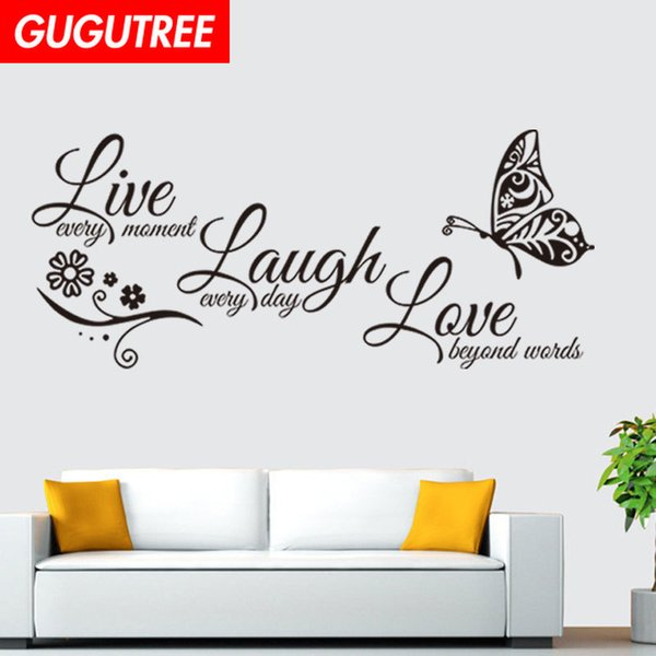 Decorate Home Letter Buttlefly Cartoon Art Wall Sticker Decoration Decals  Mural Painting Removable Decor Wallpaper G 1762 Decorating Stickers ...