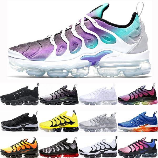Compre Nike Air Vapormax Plus 2019 Grape Plus Zapatillas Para Hombres  Mujeres South Beach Triple Negro Blanco Hyper Blue Volt Hot Punch Triple  Blanco ...