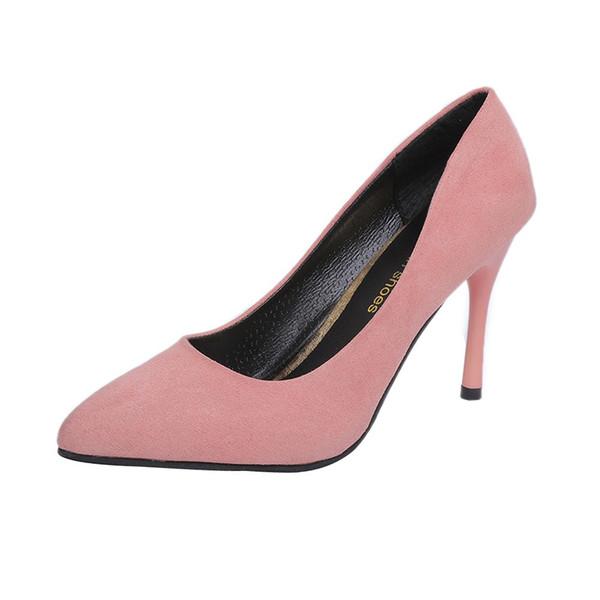 Designer Dress Shoes 2019 New Fashion Slip-On high heels women pumps thin heel classic red sexy prom wedding