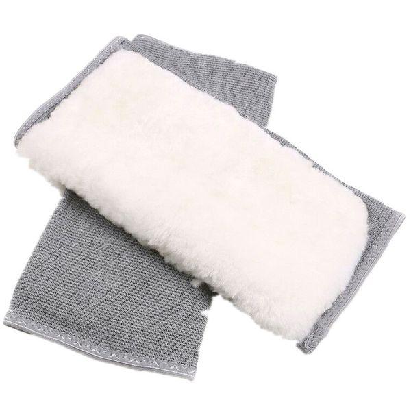1 pair women men thicken lengthen cashmere winter thermal knee warmers leg brace support yoga outdoor riding thumbnail