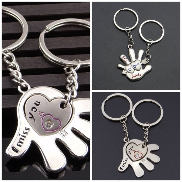 Metal Palm Love Key Buckle Men And Women Popular Lover Keyring Creative Small Exquisite Keys Chain Valentines Day Gifts 1 4ca I1