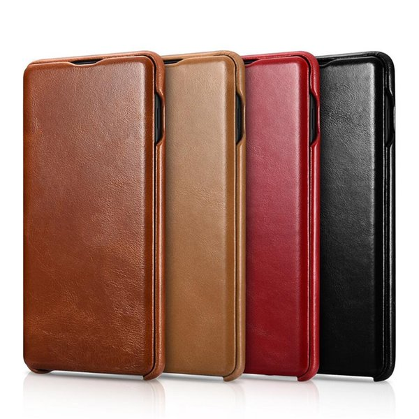 Luxury iCarer Vintage Series Real Leather Case for Samsung Galaxy S10 S10+ S9 S9+ Plus Note 8 9 Genuine Leather Cover