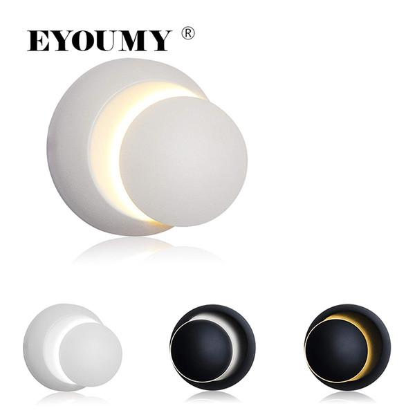 Eyoumy 3D Indoor Crescent Moon Lampe 360 Rotation Einstellbar Moderne Wandleuchte Nacht COB Licht AC 85-265 V Schlafzimmer Flur Wohnzimmer DHL