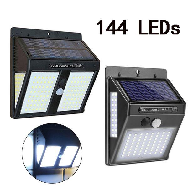 146 Led exterior llevó luces solares del jardín llevó Lampen impermeable solar lámpara de pared blanco frío linterna Para poste de la cerca