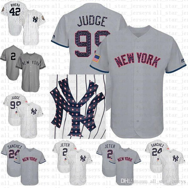 low priced aac92 8714f 2019 Stars & Stripes Flex Base Yankees 99 Aaron Judge New York Baseball  Jersey 24 Gary Sanchez Jersey 2018 2019 New From All_star_jerseys, $34.38 |  ...