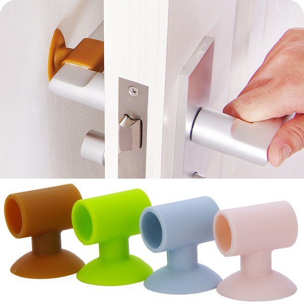 2pcs/lot Baby Safety Care Door Knob Crash Pad Wall Protector Silicone Door Stopper Anti Collision Handle Bumpers
