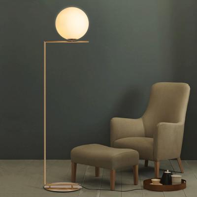 Nordic Design Post Modern Gold White Meatl LEVOU Alta Lâmpada de Assoalho Suporte de Luz Com Mesa para Sala de estar Salon 90-265 V