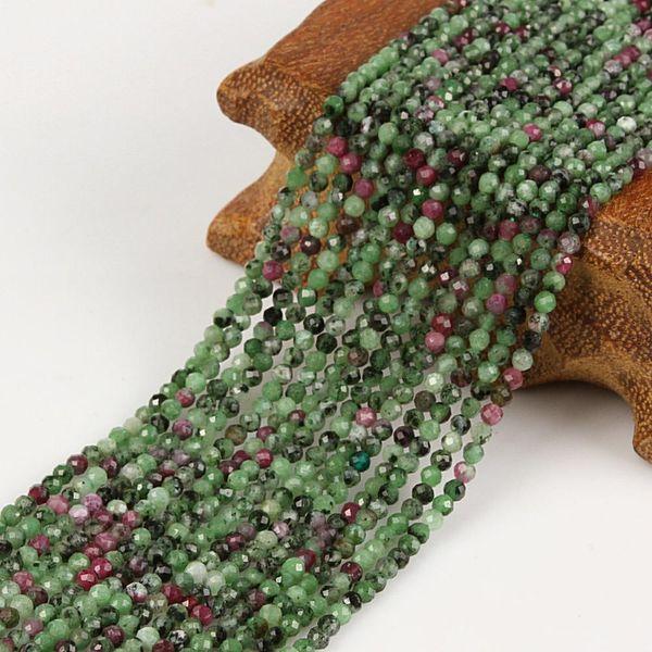 2 milímetros três milímetros Natural Facet Verde Epidote rubi vermelho zoisite pedra redonda de Gemstone solta pérolas Para Colar Pulseira DIY fazer jóias
