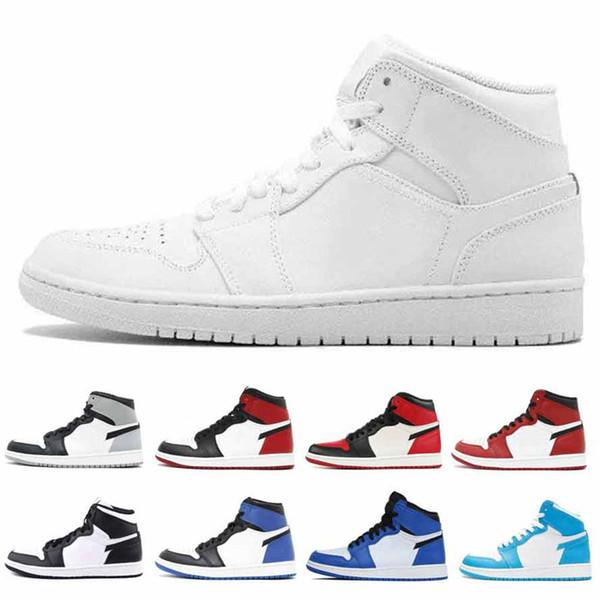 Jumpman 1 s 1 Basketbol Ayakkabıları Atletizm Sneakers Erkek Koşu Ayakkabı Kadınlar Için Spor Torch Hare Oyunu Kraliyet Çam Yeşil Mahkemesi spor ayakkabı