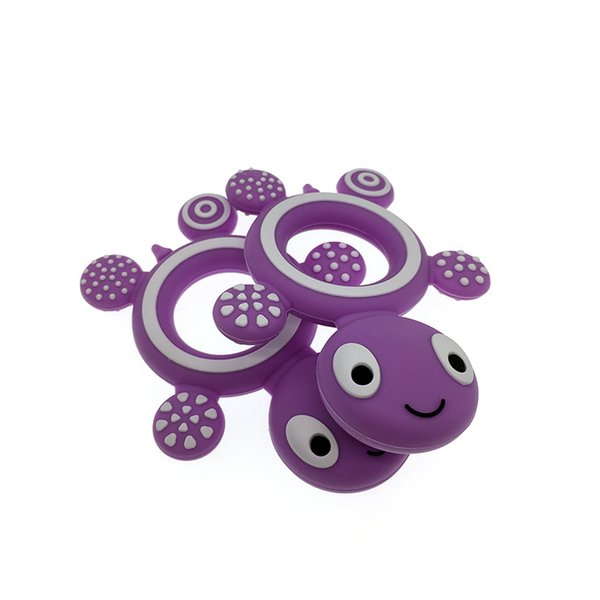 best selling Wholesale Silicone Teether Safety Tortoise Baby Kids Food Grade Silicone Soother Teether Teething Turtle Chewable Pacifier