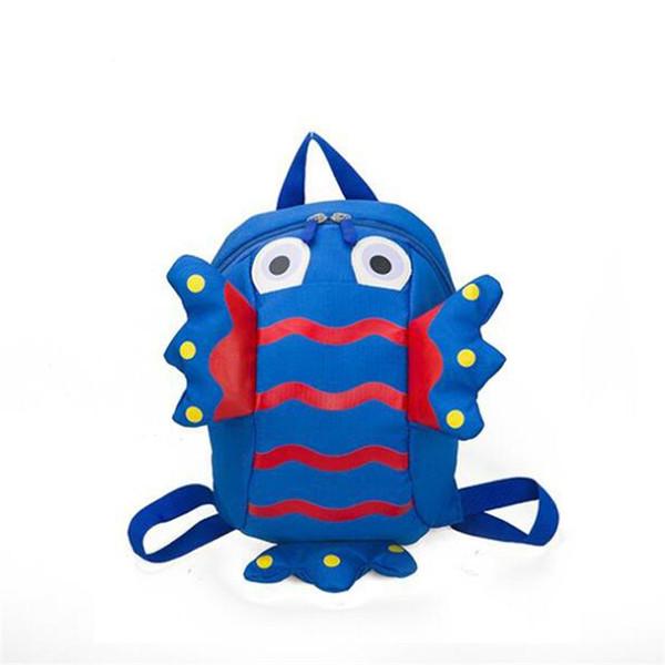 Cartoon fish shape School Backpack for Boys and Girls Kindergarten backpack 2-5 years old child Anti-lost Schoolbag kid baby bag